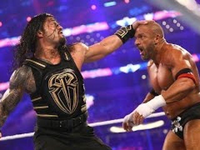'SEM'- Triple H vs Roman Reigns - Wrestlemania 32 Highlights [HD]