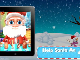 Santa Beard Salon Fun - iOS-Android Gameplay Trailer By Gameiva