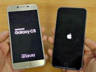 Samsung Galaxy C5 vs iPhone 6S - Speed Test!