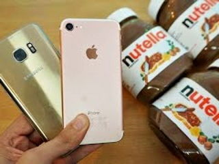iPhone 7 vs Samsung Galaxy S7 Nutella Freeze Test - Will They Survive?!