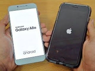 Samsung Galaxy A8 (2016) vs iPhone 7 Plus - Speed Test