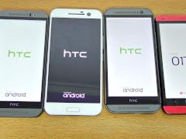 HTC 10 vs M9 vs M8 vs M7 - Speed Test! (4K)