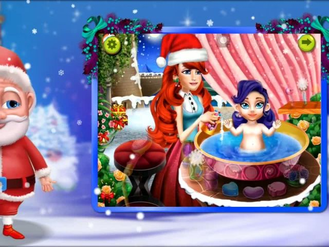 Christmas Baby Bath - iOS-Android Gameplay Trailer By Gameiva