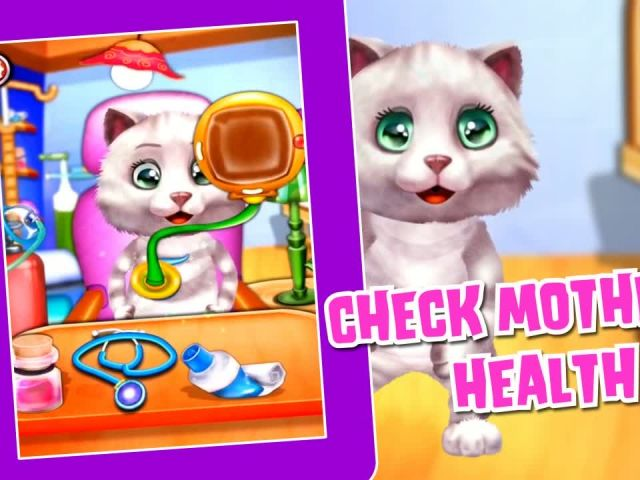 Kitty Take Care New Born Baby - iOS-Android Gameplay Trailer By Gameiva