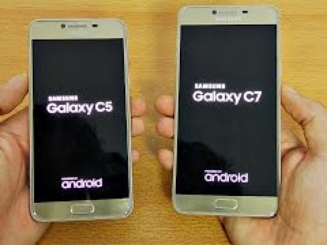 Samsung Galaxy C5 vs C7 - Speed Test!