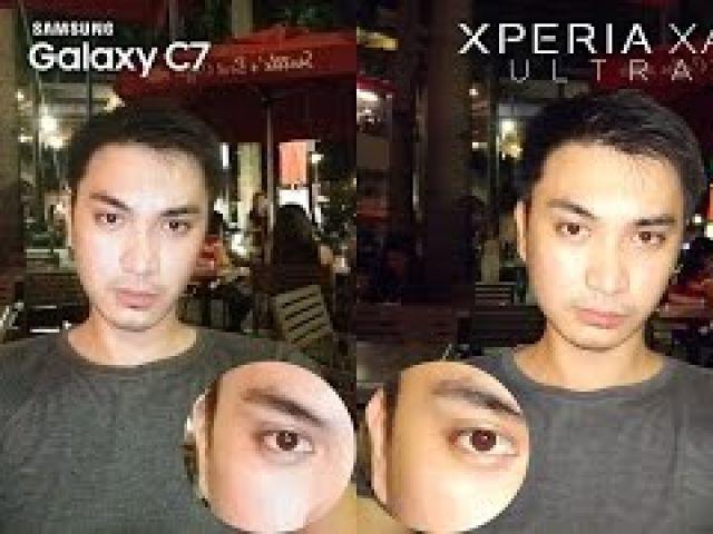 Galaxy C7 vs Xperia XA Ultra Review Camera Comparison