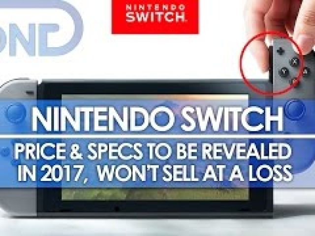 Nintendo Switch - Price & Specs to be Revealed in 2017