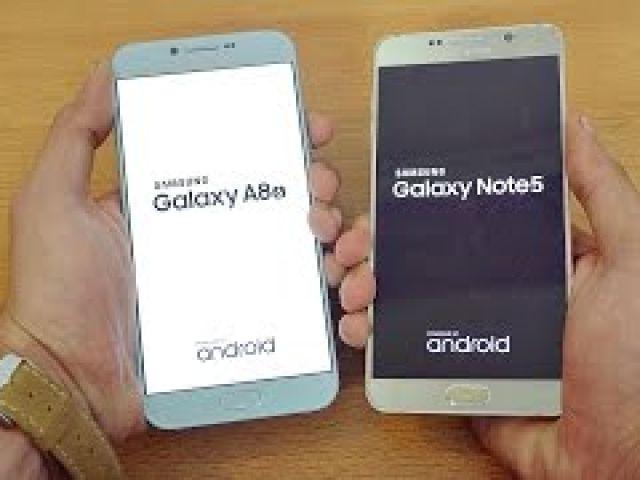 Samsung Galaxy A8 (2016) vs Galaxy Note 5 - Speed Test!