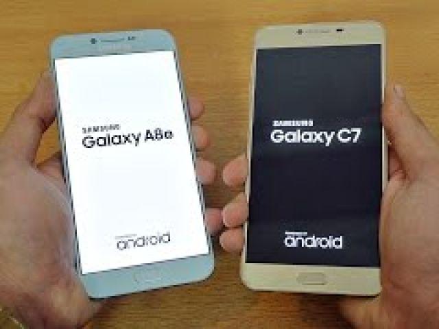 Samsung Galaxy A8 (2016) vs Galaxy C7 - Speed Test!