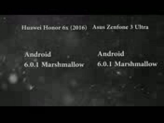 Huawei Honor 6x 2016 vs Asus Zenfone 3 Ultra