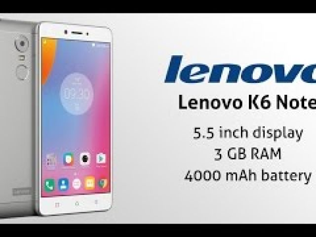Lenovo K6 Note Unboxing Hands On