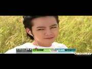 Hwang Tae Kyung and the pig