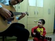 2 years old amazing baby singing 'Don't Let Me Down'