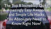 8 types of useless life hacks