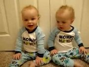 Twin Boys Talk and do Sign Language