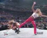 Wwe Divas - Torrie Wilson Yanks Down Stacy Keibler