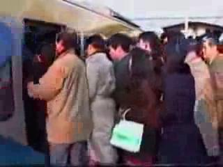 Very Funny! Extreme Crowded Train Conditions In Japan