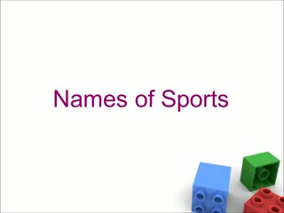 Names of sports and games for preschool children