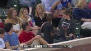 Boy Pulls Off The Smoothest Foul Ball Trick To Impress Girl Behind Him