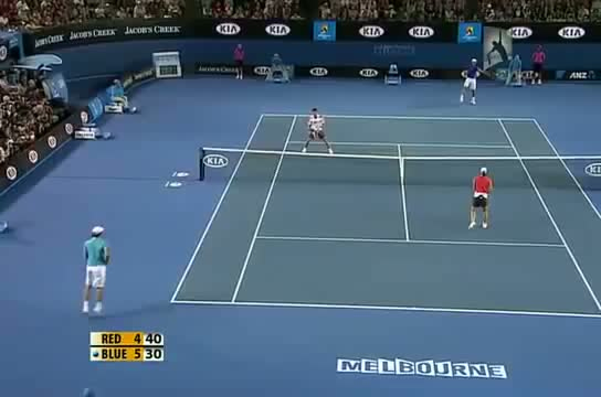 Hilarious point between Nadal,Federer and Novak !