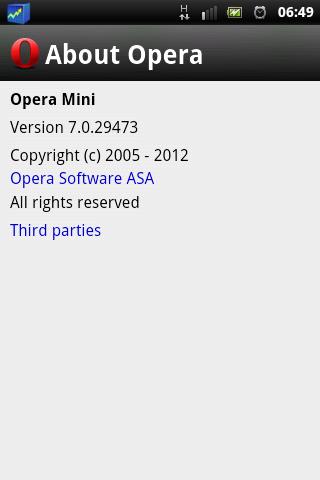 Opera Mini 7.0