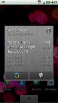 Status bar Weather