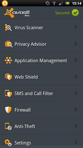 Avast Mobile Security Beta