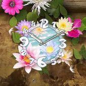 Flower Wallpaper Clock live