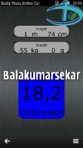 Body Mass Index Calculator v1.00