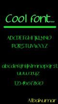 cool font(only eng)