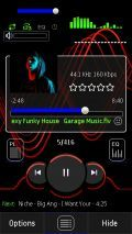 PowerMP3 S60v5 SKIN XpressMusic Red And