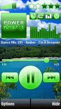 PowerMP3 S60V5 SKIN GREEN LANDSCAPE BIG