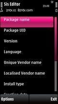 SIS Editor v0.72 S60v3,S60v5 Signed