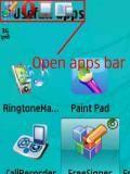 Open Apps Bar