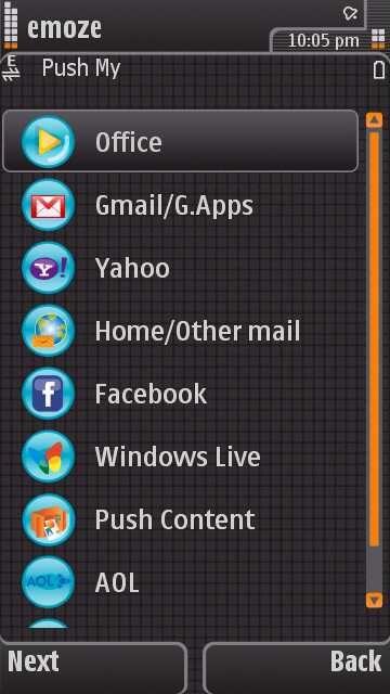 ������ emoz push e-mail  ������ �������