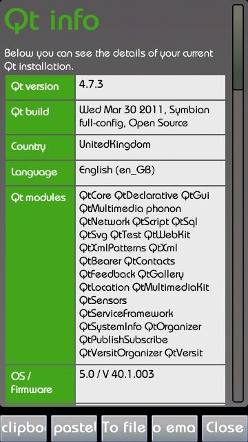 QT Info Symbian App - Download for free on PHONEKY