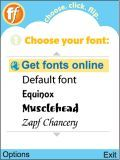 Change U R Mobile Fonts