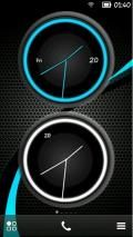 New Analog Clock Skin S60v5 Symbian3 Anna Belle