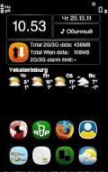 Data Counter Widget 1.00(6) S60v5 Symbian3 Nokia Anna Belle Unsigned @twitter Umairaltaf