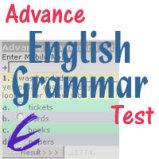 Advance English Grammar Test