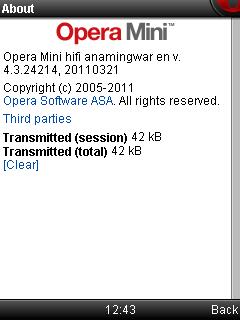 Опера мини 4.3
