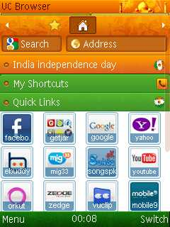 UC Browser 7 8 Indian Indepence Java App - Download for free on PHONEKY