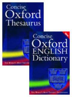 Oxford English Dictionary And Thesaurus