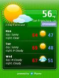 نمایش دهنده وضعیت آب و هوا