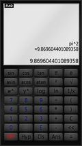 Touch Screen Calculator