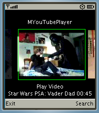 Mobile Youtbe Player (Java)